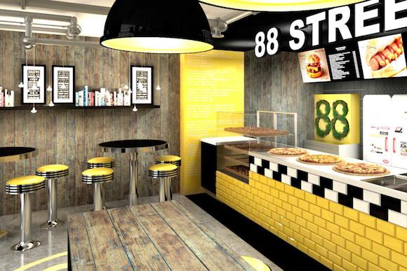 restaurant design ideen beispiel7 gelb